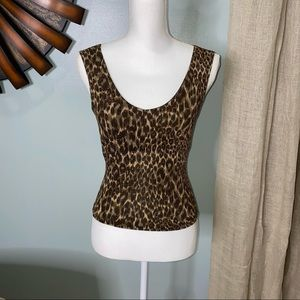 Dressy, animal print tank top with some sparkle